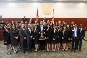 Photo courtesy of FlaLaw Online: the 2015-2016 Florida Moot Court Team and the Florida Supreme Court following Zimmerman Kiser Sutcliffe Moot Court Final Four Competition.